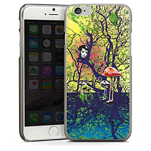 Apple iPhone 5s Housse Étui Protection Coque Flamand rose Forêt Magie CasDur anthracite clair