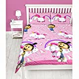 OFFICIAL Despicable Me Minions Single Duvet/Quilt Cover Bed Set Kids Bedding Set Childrens Boys Girls (Double, Unicorn Daydream (Agnes))