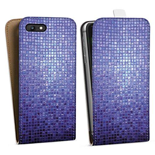 Apple iPhone X Silikon Hülle Case Schutzhülle Mosaik Steine Muster Downflip Tasche weiß