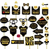 #10: Party Propz baby shower photobooth props set of 32 pieces / Baby shower photo booth / Baby shower party props / Baby shower photo props / Baby shower props for photo booth