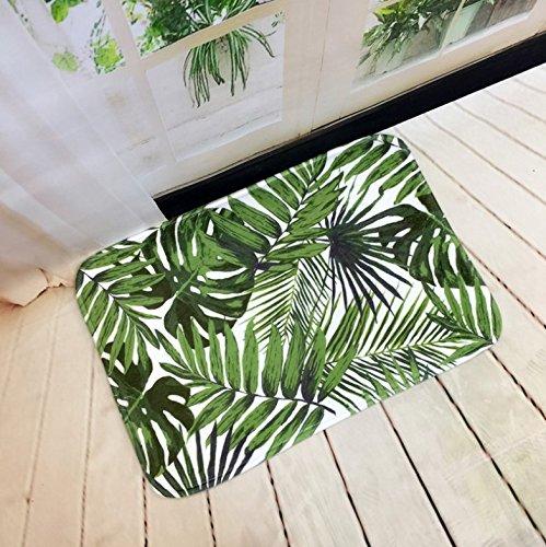 Lindou Alfombra baño Antideslizante Plantas Verdes