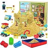 CROSOFMI Magic Sand Für Kinder Set Spielsand Kinetischer Faltbarer Sandkasten für Jungen Mädchen 3 4 5 6 7+ Jahre Alt