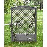 Spalier mit 2 Erdspießen Rankgitter Blumengitter Rankhilfe 100cm grau Garten