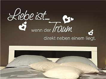 x-modeling® Wandtattoo Liebe ist wenn der Traum Schlafzimmer ...