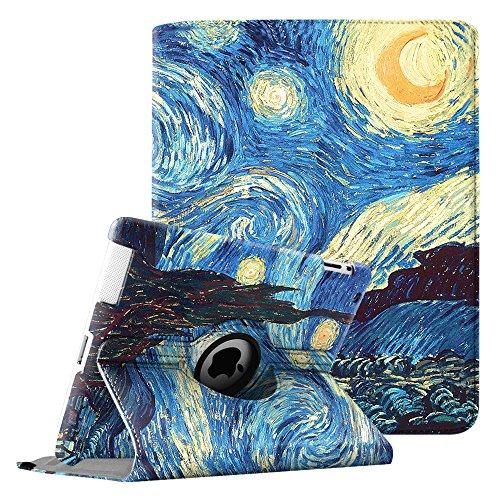 Fintie iPad 2/iPad 3/iPad 4 Hülle - 360 Grad rotierende Schutzhülle mit Standfunktion Cover Case Tasche Etui mit Auto Schlaf / Wach Funktion für Apple iPad 2,iPad 3 & iPad 4th Generation mit Retina Display, Sternennacht