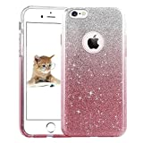 "iPhone 7 Case 4.7"", uiano® Sparkling Premium [3 in 1 Layers Protection] Hybrid Glitter Bling Bling TPU phone Case Cover For iPhone 7 (Silver Pink) [Lifetime Warranty]"