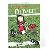 Personalised Bang On The Door Rugby Card - A Marvelous Gift For For Dad, For Him, For Grandad, Birthday - Free Personalisation