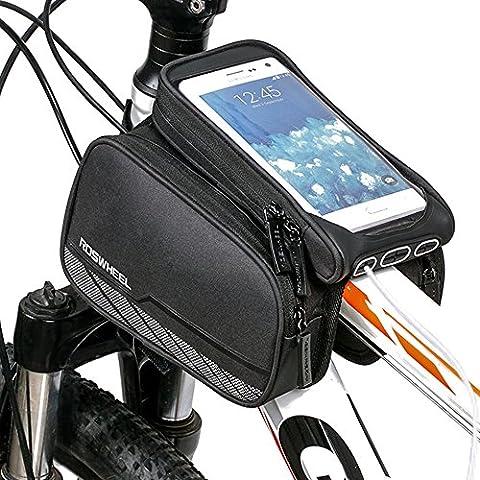 Fahrrad Rahmen Tasche gufee 3in 1Front Top Rohrrahmen Tasche mit Touchscreen, Laden und Headset Schnittstelle. Für iPhone 6/6S 7Samsung Galaxy S6/S7und andere innerhalb 15cm