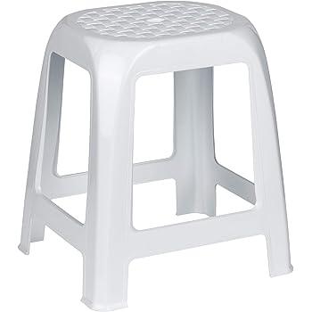 Kreher Hocker Aus Kunststoff In Weiß Sitzfläche Im Rattan Design