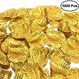 WINOMO Goldene Rosenblätter aus Stoff für die Dekoration matrimoio (1000pcs)