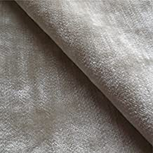 Tabley 'nuez moscada signicase': terciopelo marrón tapicería de sofá cojín tela retardante de llama Material de telas Loome, Tabley 'Nutmeg Plain' : Brown, per metre