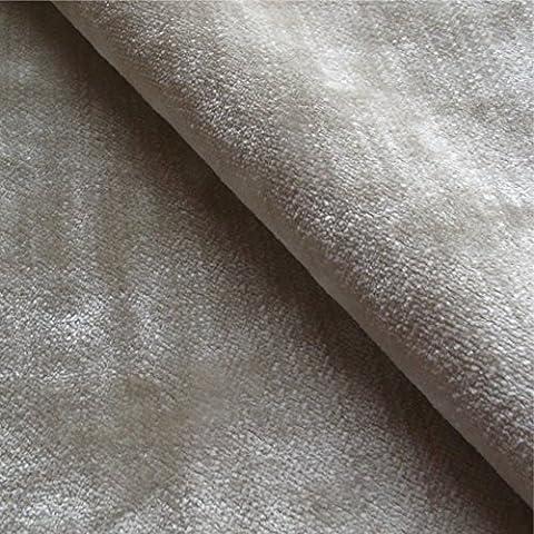 Tabley 'nuez moscada signicase': terciopelo marrón tapicería de sofá cojín tela retardante de llama Material de telas Loome, Tabley 'Nutmeg Plain' : Brown, 10 x 14 cm