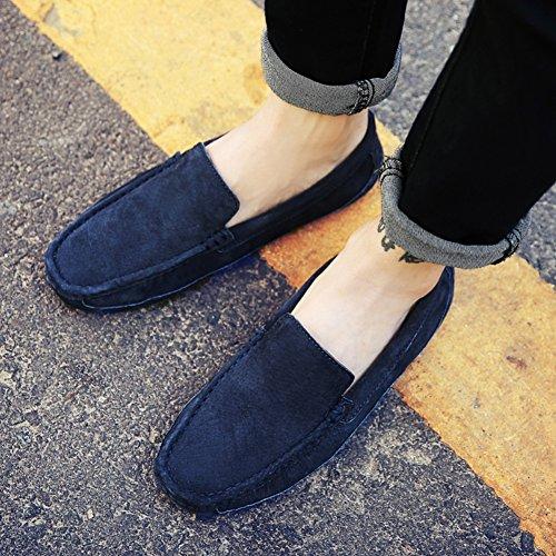 XiaoYouYuLoafers - Scarpe con plateau uomo Dark Blue