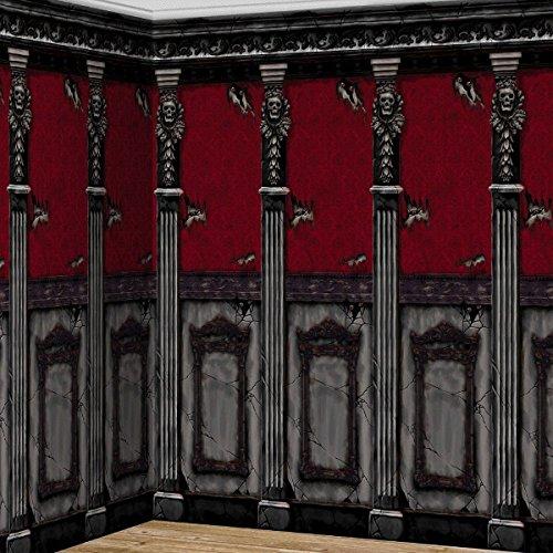 falksson XL Wanddeko Zimmerwand des gruseligen Herrenhauses 2-tlg. -