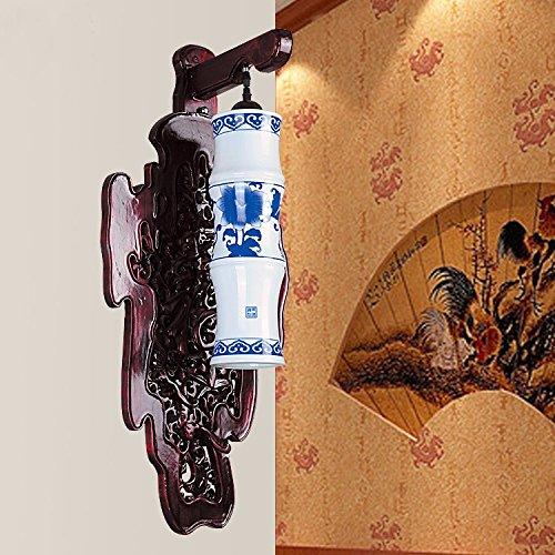 Wandun Annata Tinta Legno Intagliato Cinese Applique In Ceramica A (Intagliato A Mano Pavimenti In Legno)