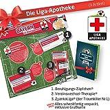 ZÄPFCHEN® Geschenk-Set: 2 - Die Liga-Apotheke für FCB-Fans | Für Fans von FC Bayern München Trikots, Home Away Stutzen Shorts Hoodie