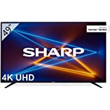 SHARP LC-49UI7252E 123 cm (49 tum) TV-apparat (4K Ultra HD Smart LED TV, Harman/Kardon Soundsystem, 3 HDMI-anslutningar, Trip