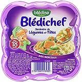 Blédina Blédichef Assiette Plats Complets du Soir Jardinière de Légumes Pâtes dès 18 Mois 260 g