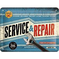 Nostalgic-Art 26179Best Garage Service y Repair, Cartel de chapa, 15x 20cm