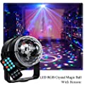 Diso Lights Mini Magic DJ Party Stage Light 3W LED RGB Sound Active Crystal Ball Lamp Colour Changing Lighting Effect with Remote Control for KTV Club Bar