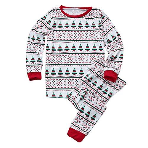 Juleya Weihnachten Familie Matching Set Xmas Father Mother Kinder Baby Kinder 3T (Feen-pyjama Set)