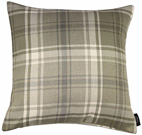 McAlister Textiles Palette der Angus Tartan Design Bezug aus Kissen, kariert, Wolle Mischung, Beige, 43x 43cm (Arm-stuhl-seat-kissen)