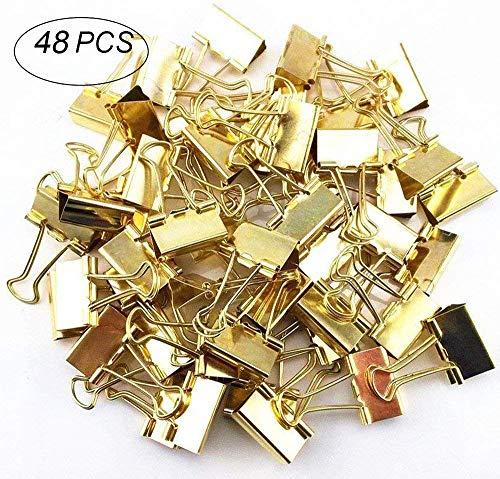 40 St/ück Gold VBS Foldback-Klammer 19mm