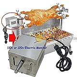 220V in acciaio INOX 120kgs Pig agnello capra pollo girarrosto barbecue a carbone griglia girarrosto spiedo motore elettrico
