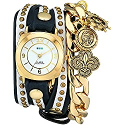 La Mer Collections Damen LMCW2003 Nautical Charms Wrap Armbanduhr