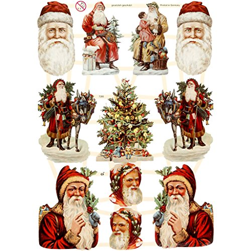 Christmas Paper Vintage Die-Cuts 3 Sheet