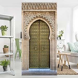 fl chenvorhang set oriental gate 250x120cm schiebegardine schiebevorhang raumtrenner vorhang. Black Bedroom Furniture Sets. Home Design Ideas