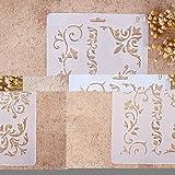 Plantillas con diferentes patrones ZHUOTOP para pintar con aerógrafo, para manualidades y decoración, 09, 01#
