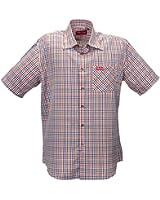 Funktions-Hemd Freizeit-Hemden Herren Kurzarm von Fifty Five - André - Quick-Dry und UV-Schutz für Outdoor-Bekleidung