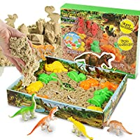 Play Sand Set Molding with Marine Life Molds Moldable Indoor Play Sand, Shaping Molds, Sea Figures and 3D Tray