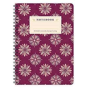 Etmamu 417 Carnet de notes ligné Motif floral Violet Format A5 60 pages