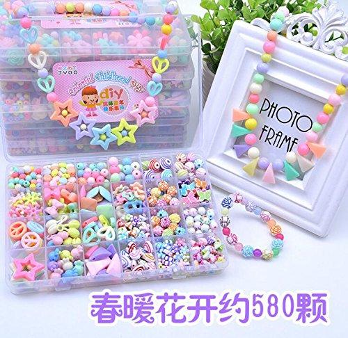 schmuck-perlen-set-zubehr-bunte-acryl-spielzeug-fr-kinder-eine-halskette-und-ein-armband-diy-schmuck