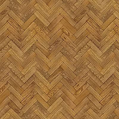 MyTinyWorld Dolls House Miniature Parquet Flooring 9 Inch Dark Honey Colour Oak Strip Effect