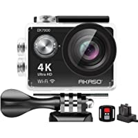 Action Cam 4K AKASO WiFi Action Kamera 30M Unterwasserkamera 170°Ultra Weitwinkel Full HD Sports Kamera mit 16MP 2 Zoll…