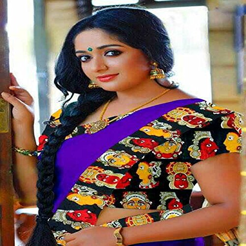 Sarees(sarees for women latest design sarees for women party wear Saree new Collection party wear Saree 2017 Purple Colour chanderi cotton sarees with kalamkari Printed Blouse & Border offer designer saree for women sarees below 500 sarees below 300 sarees below 1000 Saree Under 1000 Saree Under 500 Saree Under 300  available at amazon for Rs.399