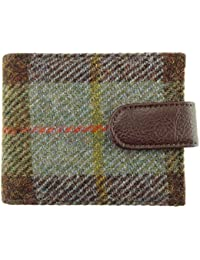 aa74696668732 Mens 100% Harris Tweed Card Wallet with Coin Section Available in 8 Colours  LB2105