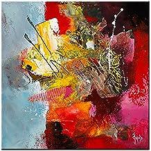 """'Verre Acrylique """"Mozart de Jadis, Taille 50cm x 50cm Impression numérique avec 9couleurs Imprimer Sur Verre Acrylique, plexiglas, image art moderne, art abstrait, peinture, prêt décoratif directement à suspendre"""