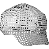 Smiffys Disco Sequin Hat (Silver)