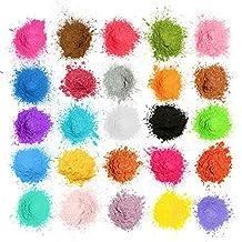 MOSUO Pigmentos en Polvo,5g*25 Colores Natural Mica Tintes para teñir Resina Epoxi