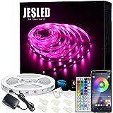 Tiras LED Wifi, JESLED 5M Tira de LED RGB Compatible con Alexa, Google Home, App, LED Tira Luz Sincronización de Música, Perf