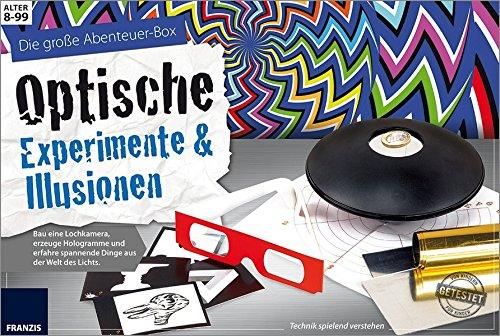 FRANZIS Die große Abenteuer-Box Optische Experimente und Illusionen: Lochkamera, Hologramme und spannende Dinge aus der Welt des Lichts | Ab 8 Jahren -