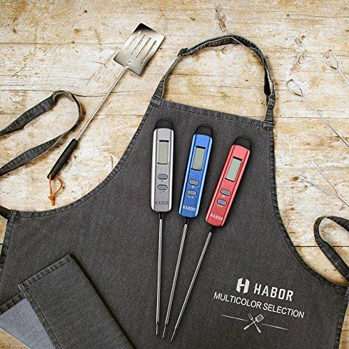 comprare on line Habor Termometro Cucina Digitale, Termometro Digitale 5S Lettura Instantanea Auto-Off per BBQ, Griglia, Carne, Barbecue, Vino, Latte, Alimenti, Acqua Bagno prezzo