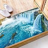 Wasserfall Boden Aufkleber DIY Stereo Wandaufkleber Wasserdicht Wandaufkleber PVC Umweltschutz Kann Entfernt Werden Nicht Verblassen Waschbar Dekorative Gemälde Selbstklebende Papier