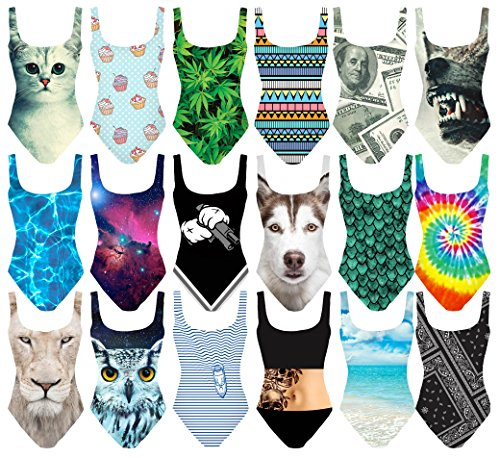 Biancheria intima Body Costumi da bagno Bikini Beachwear Swimsuit Monokini [040] Husky