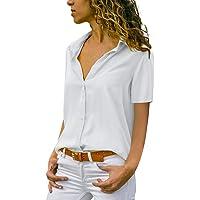Xmiral T-Shirt Donna a Manica Corta con t-Shirt Casual #053015