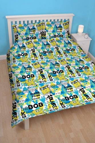 Image of Spongebob Happy Double Rotary Duvet Set